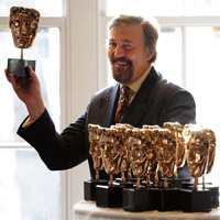 Stephen Fry on pre-Bafta nerves and putting the audience at ease