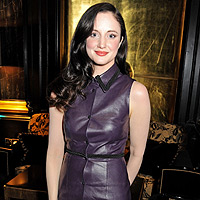 Rising star Andrea Riseborough gets in the party spirit ahead of BAFTAs