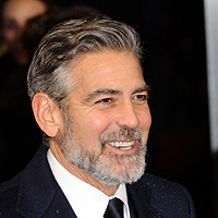 'Thanks for making facial hair OK': George Clooney and Stephen Fry vie for the night's best sound bite