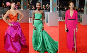 The most dazzling red carpet dresses from the BAFTAs 2014