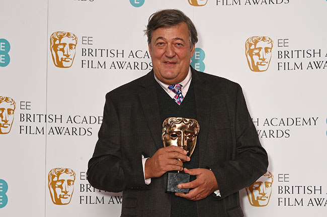 Stephen Fry is hosting the baftas