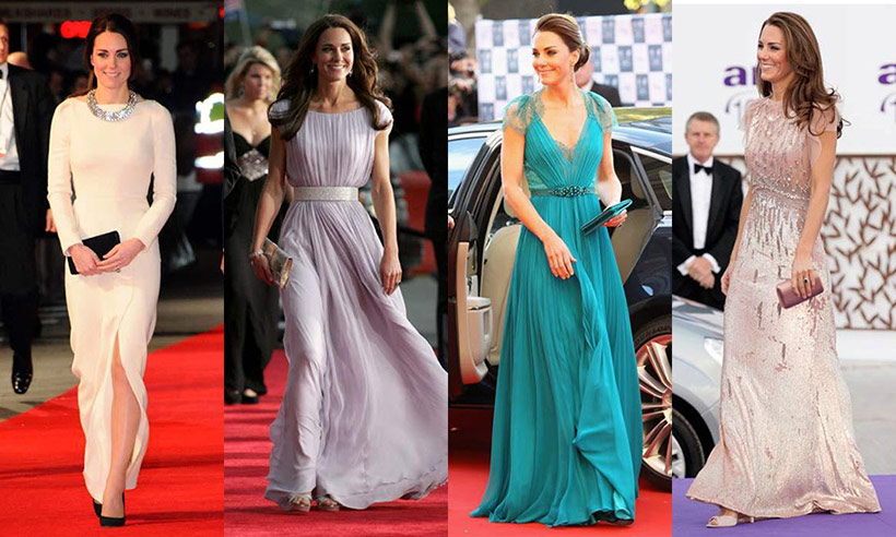 Countdown to Duchess Kate at the BAFTAs: A look back at her most glam evening looks