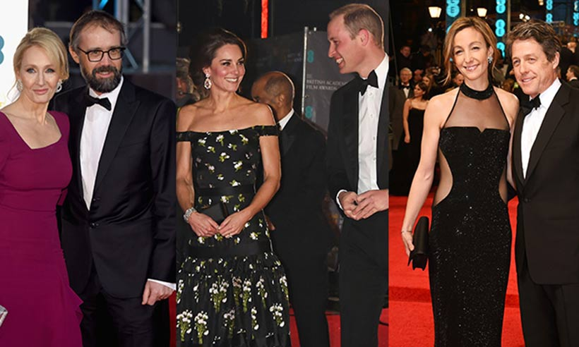 William and Kate lead loved-up couples at 2017 BAFTAs