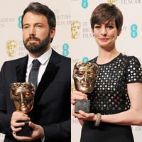 Anne Hathaway and Ben Affleck lead the BAFTA winners