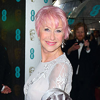 BAFTAs 2013: 'Rebel' Helen Mirren is in the pink on British film's big night